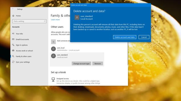 Cách xóa tài khoản (User) trên Windows 10