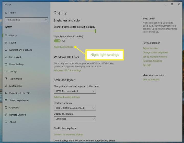 Cách bật tính năng lọc ánh sáng xanh trên Windows 10